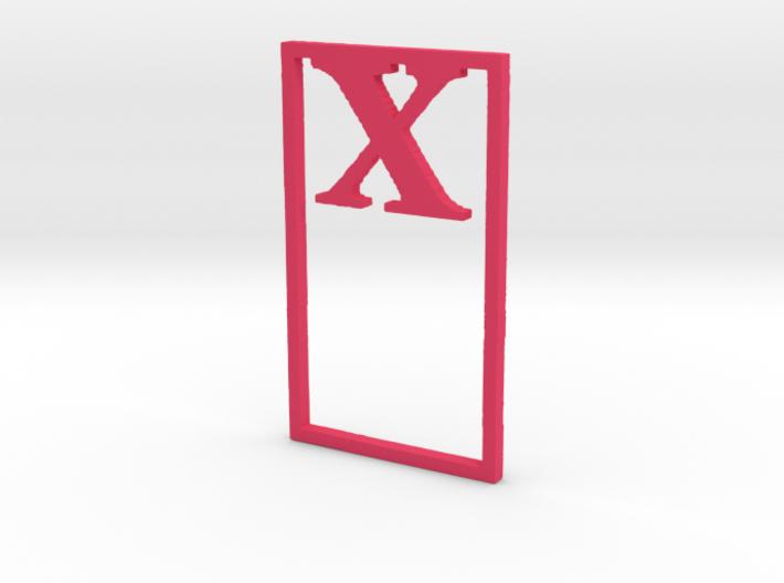 Bookmark Monogram. Initial / Letter X  3d printed
