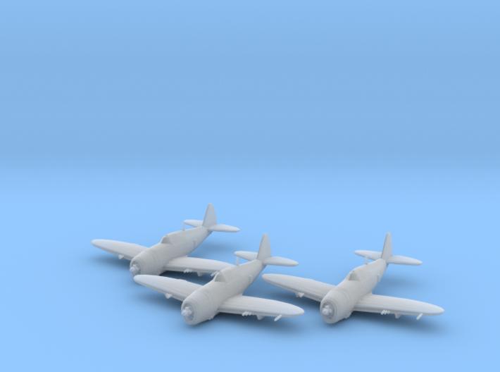Republic P-47 'Thunderbolt' Razorback 1:200 x3 FUD 3d printed