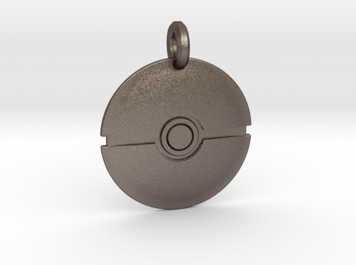 Poké Ball Keychain 3d printed