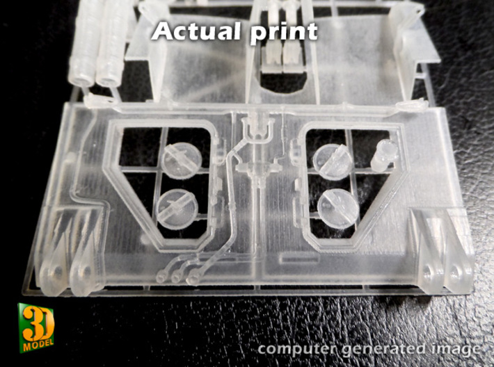 2S7 PION Rear Wall Update set (1:35) 3d printed 2S7 PION Rear Wall Updat set - print