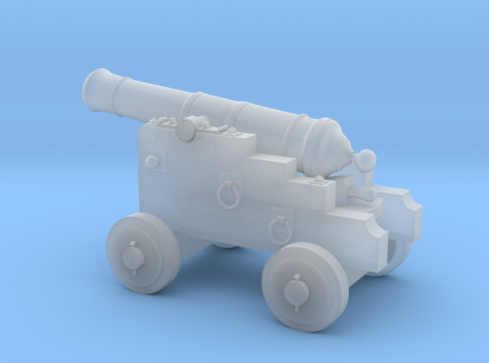 18th Century 3# Cannon-Small Naval Carriage 1/24 3d printed