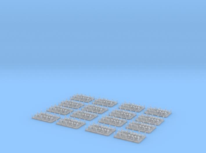 Spiegel und Lenkräder für H0 / 1:87 PKW 3d printed