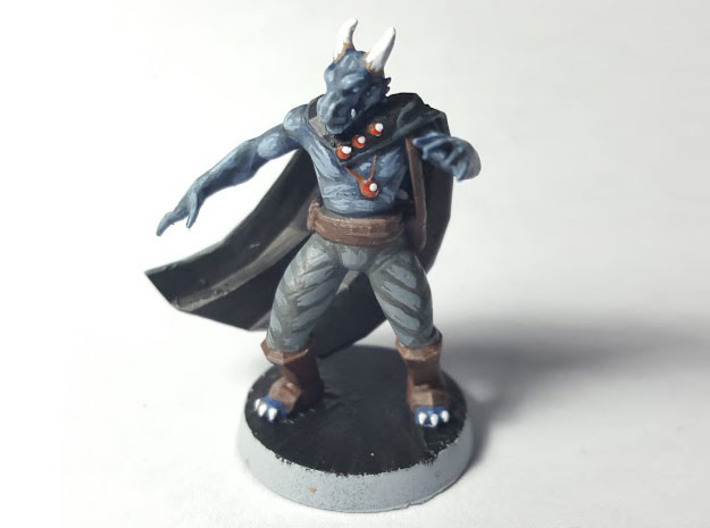 Dragonborn Sorcerer 3d printed Finished model painted using acrylic paints.
