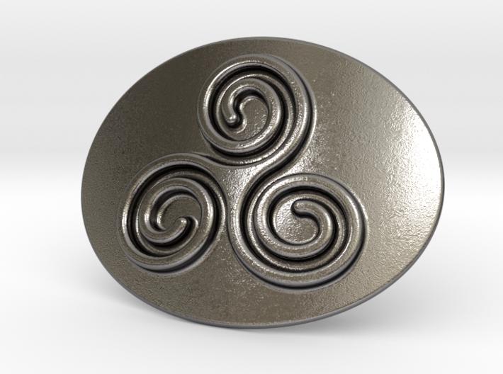 Triskell Belt Buckle 3d printed