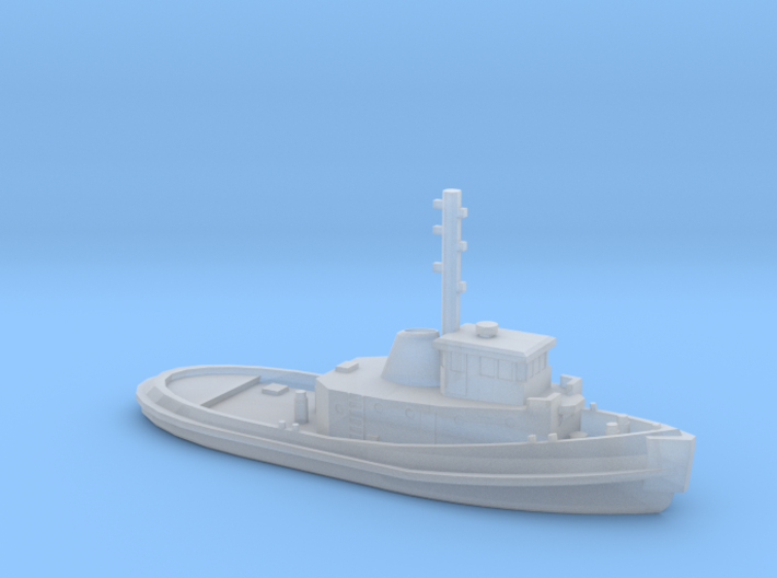 1/1200 Vietnam era YTB tug 3d printed