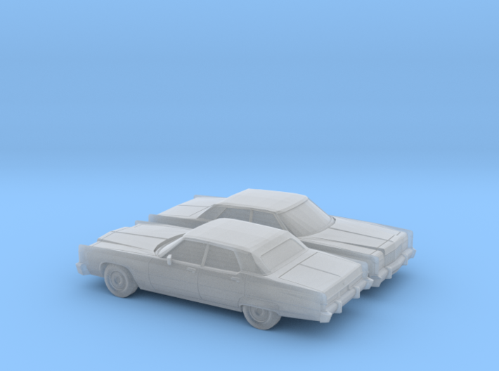1/160 2X 1974 Lincoln Continental Sedan 3d printed
