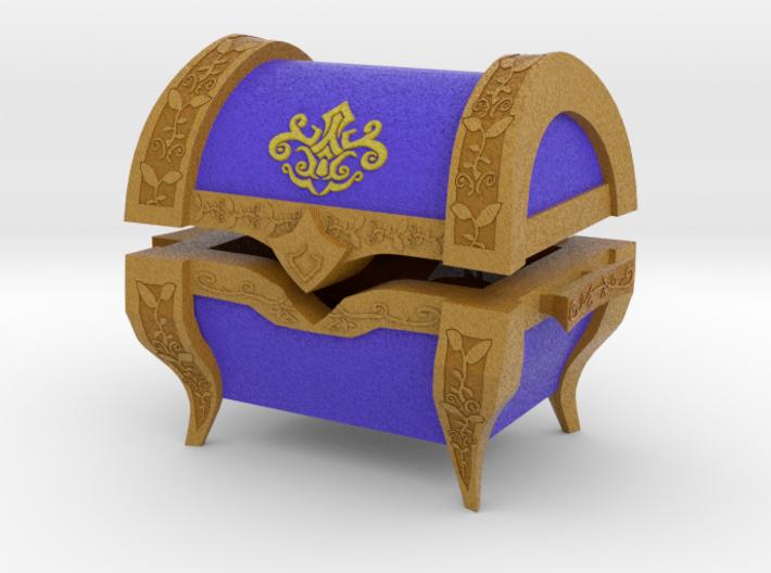 """""""TP"""" Treasure Chest (Medium) 3d printed"""