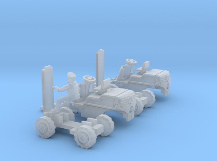SET 2x Linde Güldner Hubtrac H3K (TT 1:120) 3d printed