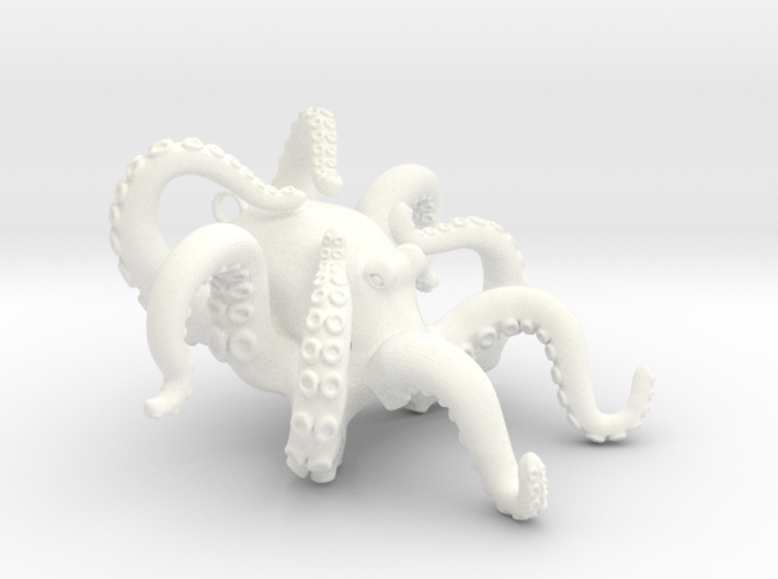 Blooming Octopus Pendant 3d printed