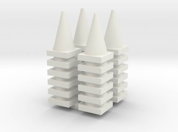 Road Cone Stack (4Pack) 1-64 Scale 3d printed