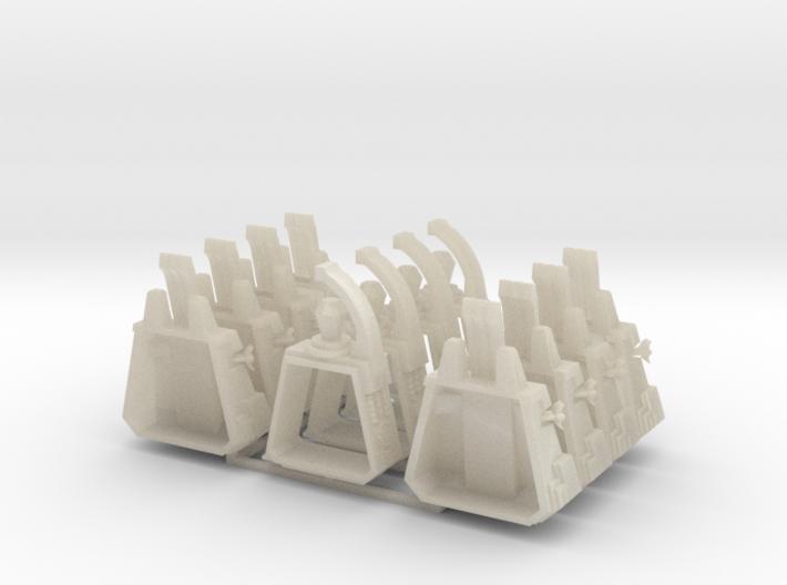 6mm Deathbot War-Pyramids (x4) 3d printed