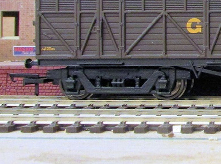 GWR 9' American Bogie - Hornby/Airfix Fit 3d printed Finished bogie fitted to Hornby Siphon H after painting, with Bachmann wheels and Hornby wide couplings (wagon, wheels and couplings not supplied)