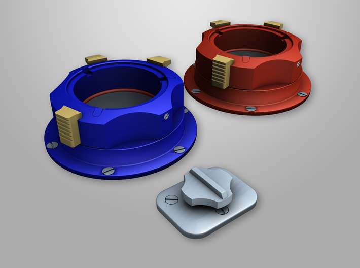 Apollo A7L-Diverter Valve BASE 3d printed This is one of the two parts that make up the Diverter valve for the Gas Connector used on the A7L Space suit. It is the base shown in the foreground of this render.