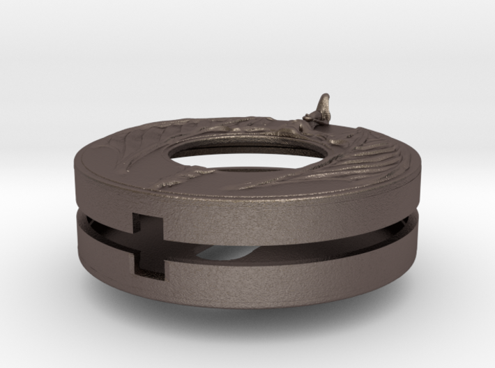 """Escutcheon for dragon door handles - """"Sentinel"""" 3d printed"""