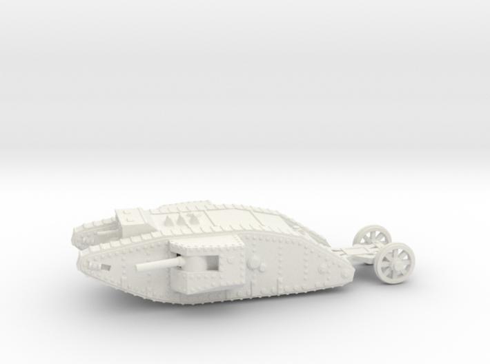 1/100 Mk.I Male tank 3d printed