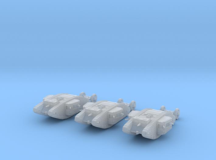 1/220 Mk.I Female Tank 3d printed