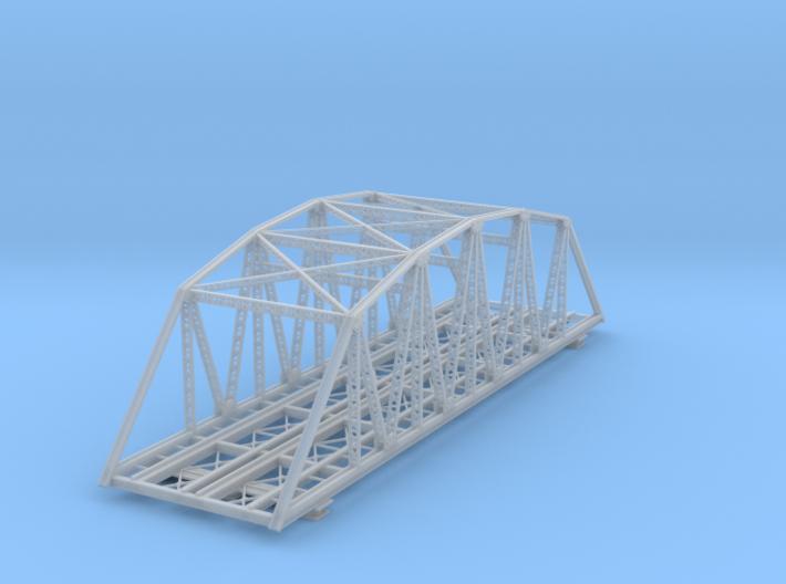 120ft Double Track Truss Bridge Z Scale 3d printed 120ft Truss Bridge double track Z scale