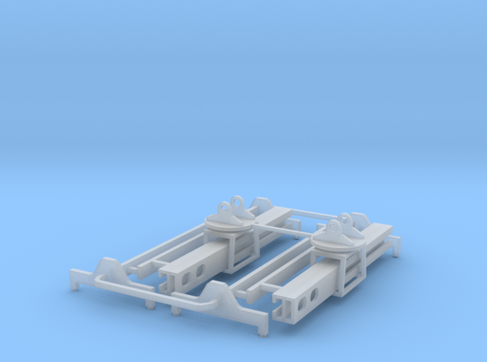 Taylor Container Attachment Z Scale 3d printed two Container Lift attachments z scale