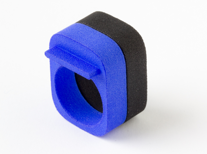 """Squared Piece 3d printed Together with ring """"Squared Inspection"""""""