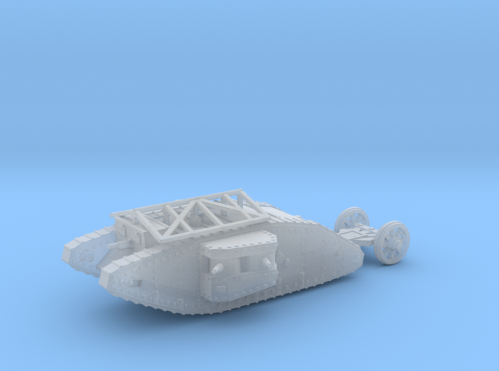 1/160 Mk.I Female tank with grenade roof 3d printed