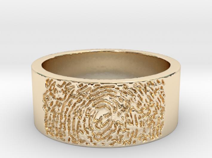 Fingerprint Ring Size 7 3d printed