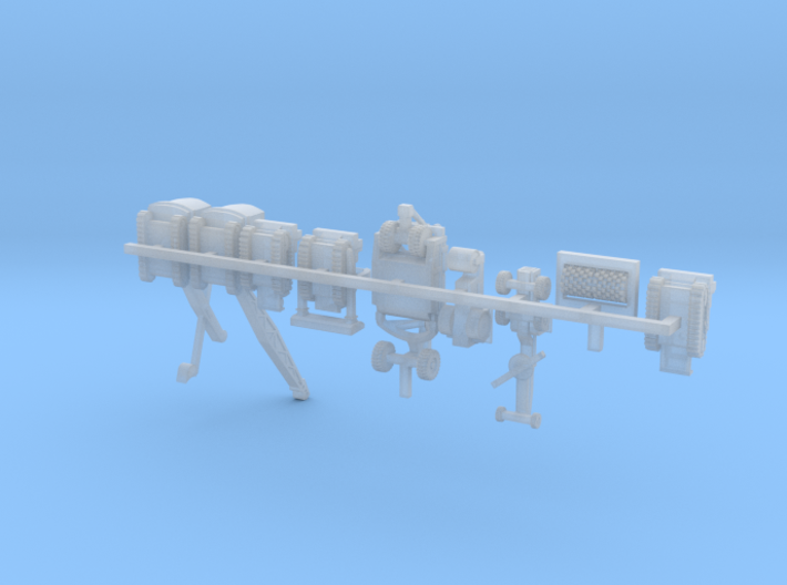 1/350 Scale WW2 SeaBees Equipment 3d printed