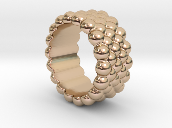 Bubbles Round Ring 14 – Italian Size 14 3d printed