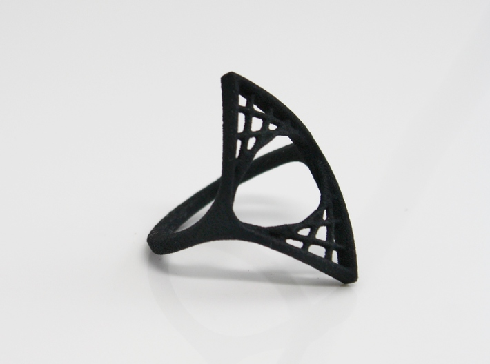 Parabolic Suspension Ring - US Size 09 3d printed