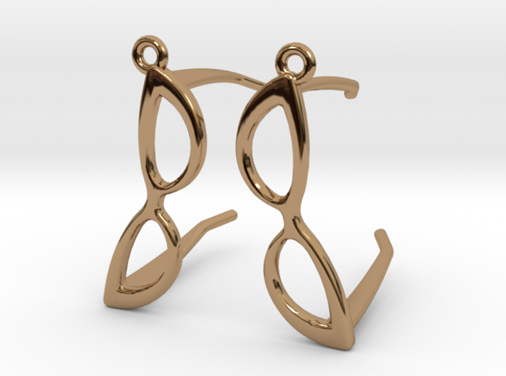 Cateye Glasses Earrings - 3D 3d printed