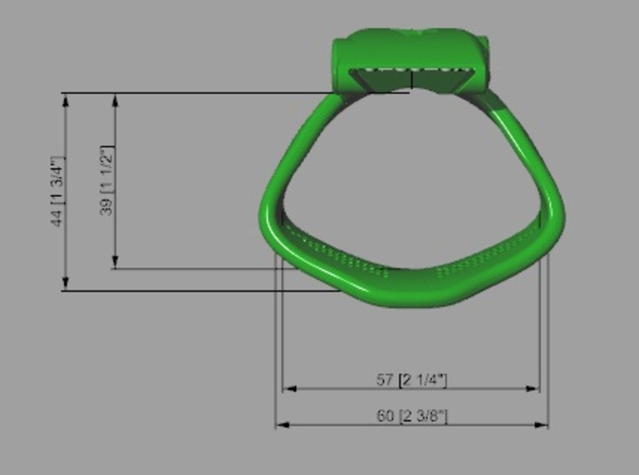 Special KHD X3 espresso Ring Middle 35-40mm 3d printed