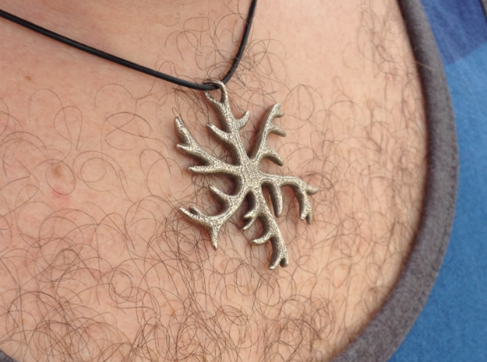 Antler Pendant 2 inches 3d printed