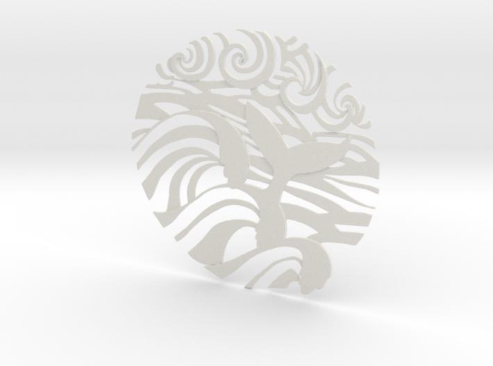 Ocean Wave tattoo 3d printed