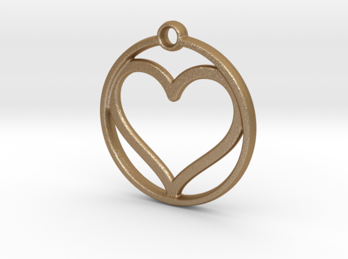 heart in circle 3d printed