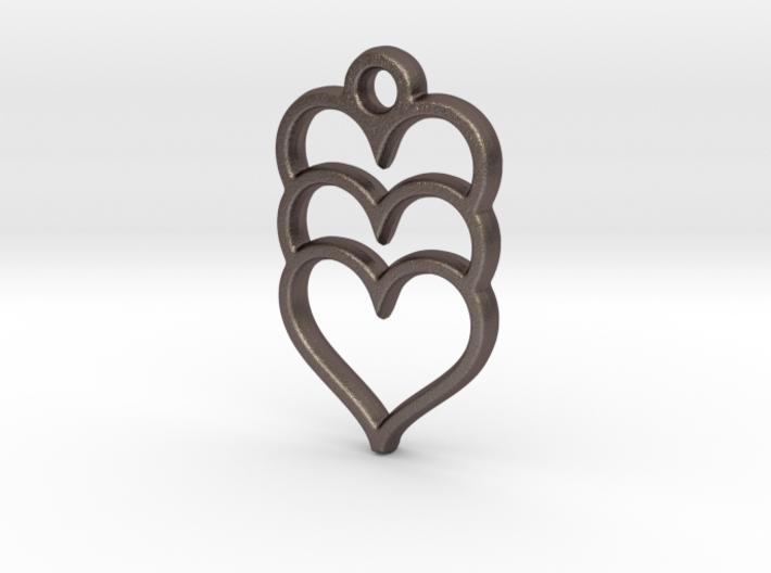 Hearts x 3 3d printed