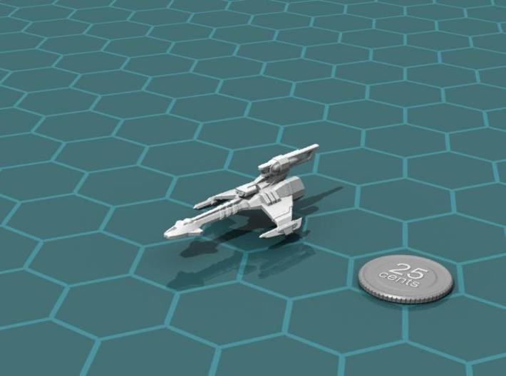 Ngaksu Lightning 3d printed Render of the model, with a virtual quarter for scale.