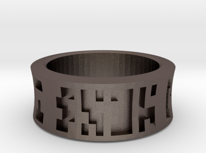 Ancient Wisdom Ring 3d printed