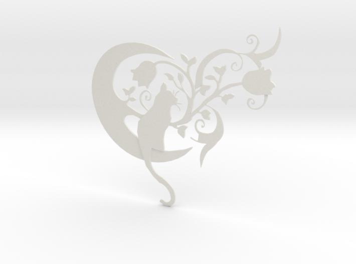 Cat moon tattoo 3d printed