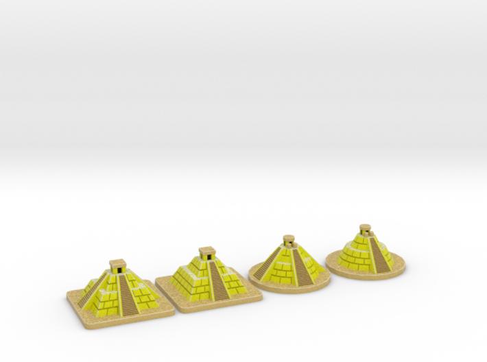 SOL Pyramids - Full colour (4 pcs) 3d printed