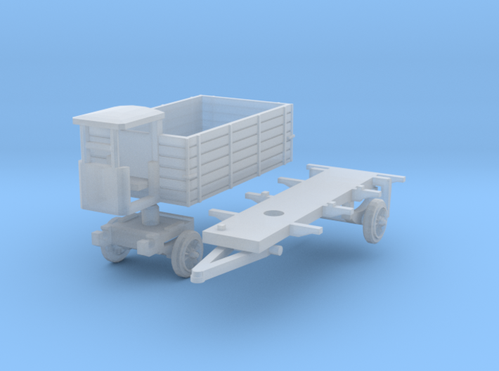 Anhänger mit Bremserhaus (TT 1:120) 3d printed