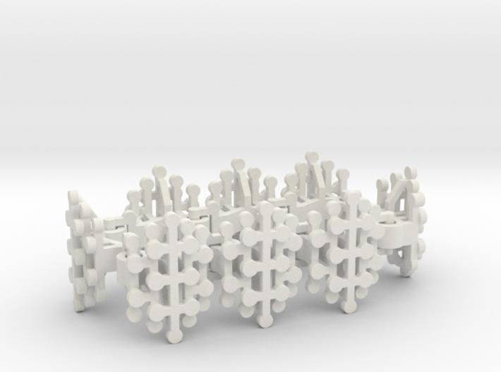Geo Stamens bracelet 3d printed