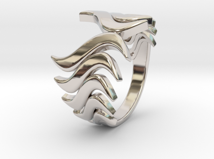 Fashion Fire Ring 1008 3d printed