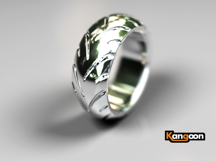Ray Zing - Tire Ring Massiv 3d printed Premium Silver preview