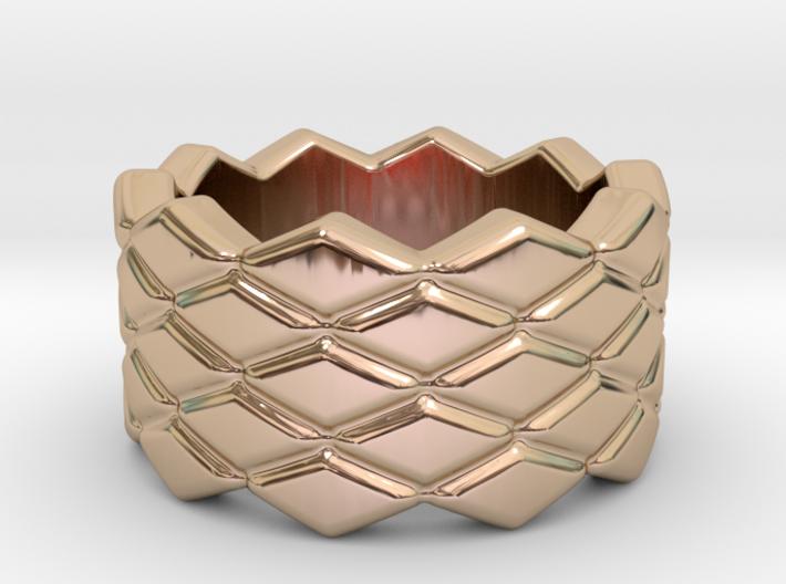 Rhombus Ring 15 – Italian Size 15 3d printed