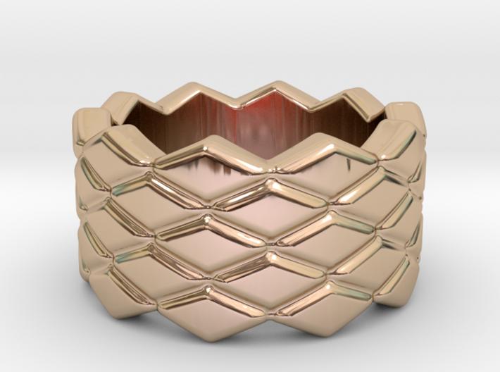 Rhombus Ring 16 – Italian Size 16 3d printed