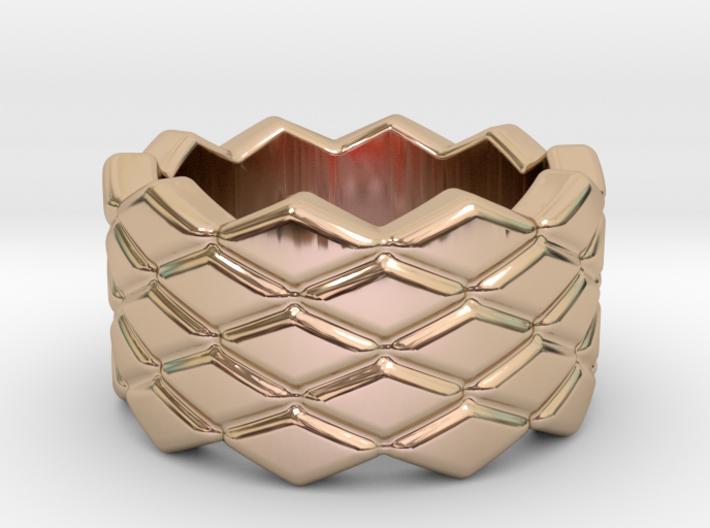 Rhombus Ring 21 – Italian Size 21 3d printed