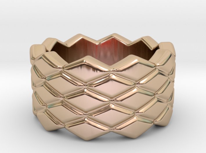 Rhombus Ring 22 – Italian Size 22 3d printed
