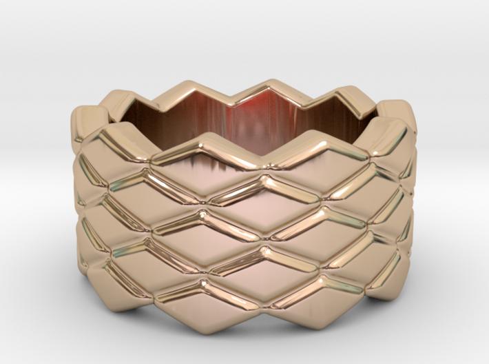 Rhombus Ring 23 – Italian Size 23 3d printed