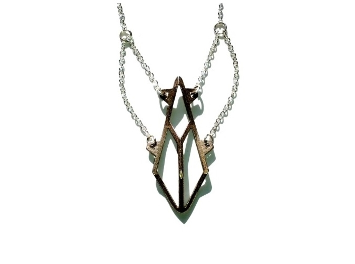 Sacred Necklace 3d printed Stainless Steel