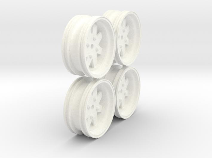 Tamiya Subaru Brat Wheels 3d printed