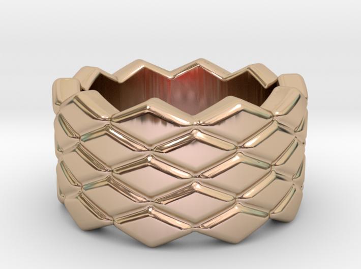 Rhombus Ring 29 – Italian Size 29 3d printed